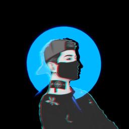 freetoedit minimalistic art blend blue