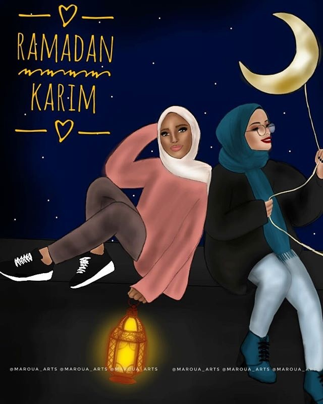 Ramadan karim ?❤️#ramadan #orangehair #awesome #gorgeous #girlpower #girly_m #friend #mydraw #vibes #girl #cute #emotions #colorful #people #travel #bea