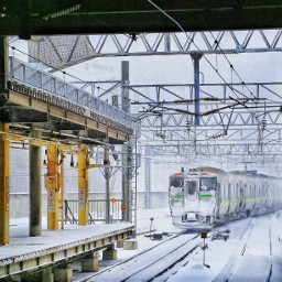 japan railwaystation snow dynamo sapporo freetoedit