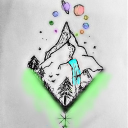 freetoedit aesthetic simple mountain colors