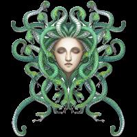 #medusa #snakes #snake #green #hair