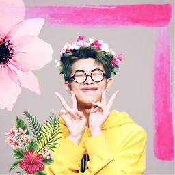 freetoedit kpop korean pink flower