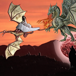 freetoedit dragons danger fairytail frightening