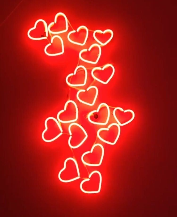 freetoedit red aesthetic hearts heart light lights