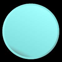 circle button frame aquamarine blue