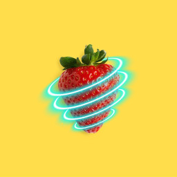 strawberry berry neon yellow freetoedit