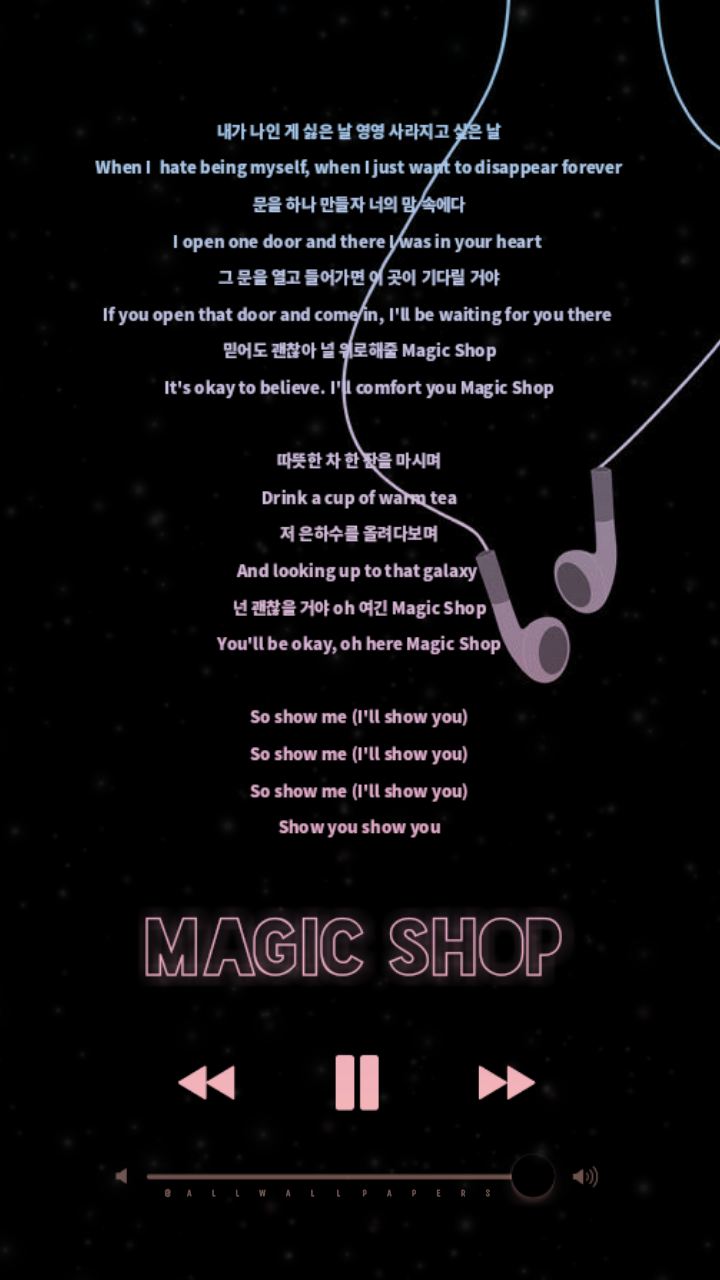 Bts Magic Shop Lyrics Wallpaper Lockscreen This So