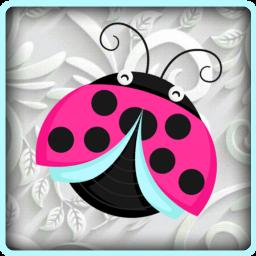 ladybug pink bug insect cute scrapbooking