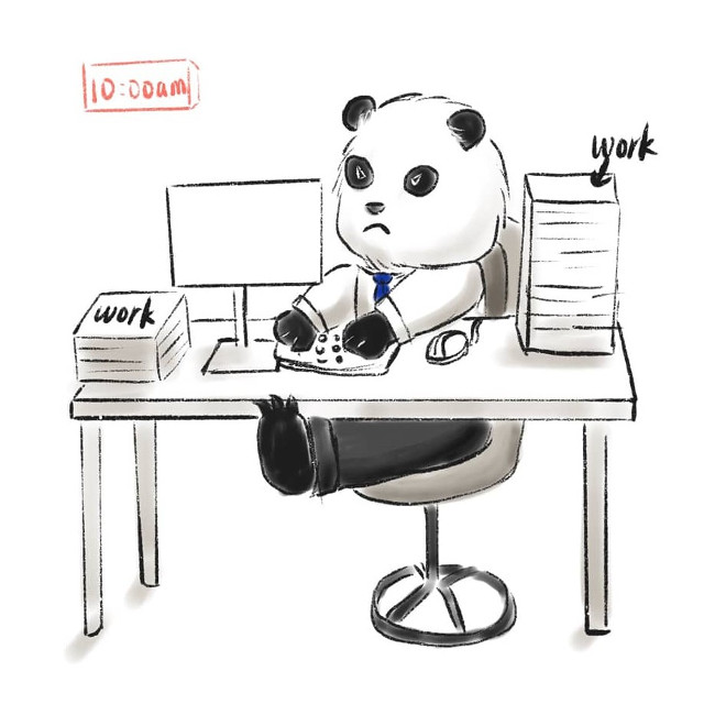 Part of Ep 1 for my web comic Panda A and Panda B #freetoedit #panda #pandalove #atwork