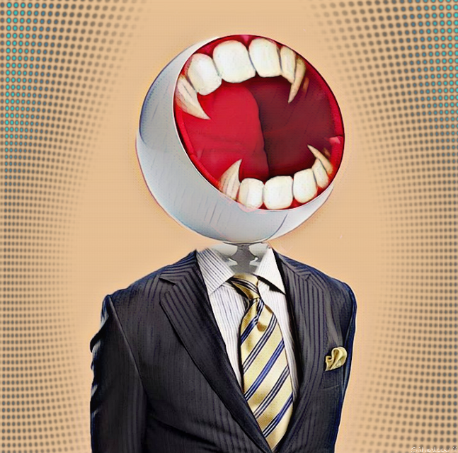 #freetoedit #suit #head #teeth #laugh #surreal   Thank you for the fte 💌  Thank you for the sticker (mouth/fangs) @roxannegraziadei-fatta 💌