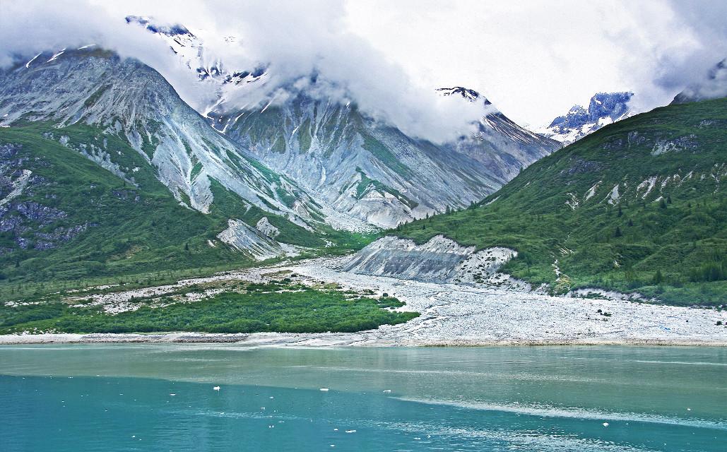 #landscape #alaska #glacier