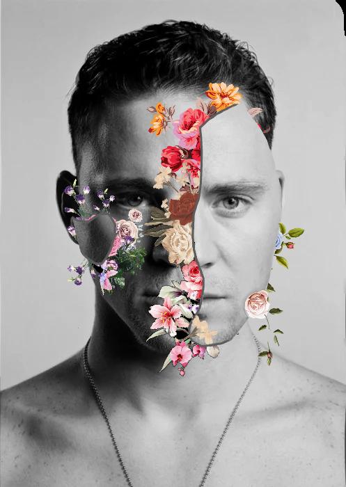 #freetoedit #chico #hombre #blancoynegro #shaw #shawmendes #flores #plantas #flor #colores #piel #grietas #cara @brian_galaxy