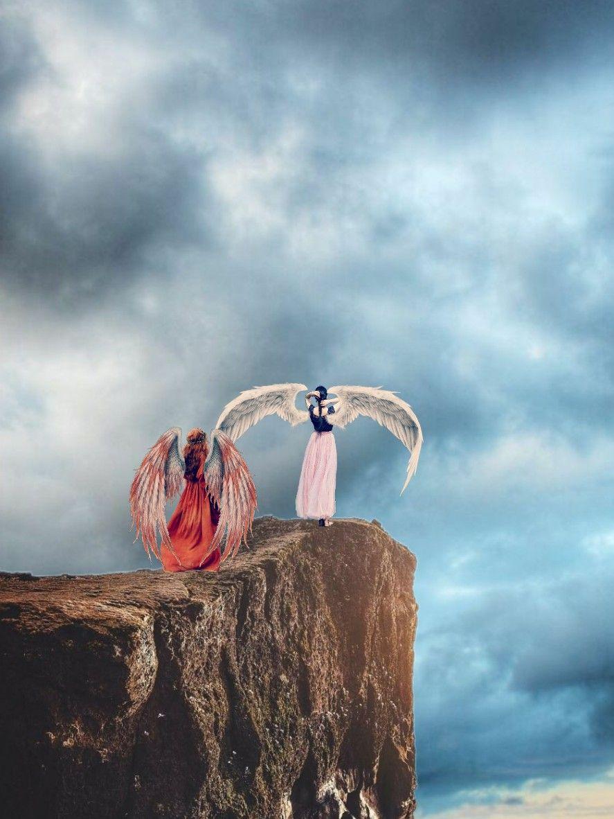 #freetoedit #angel #mountain