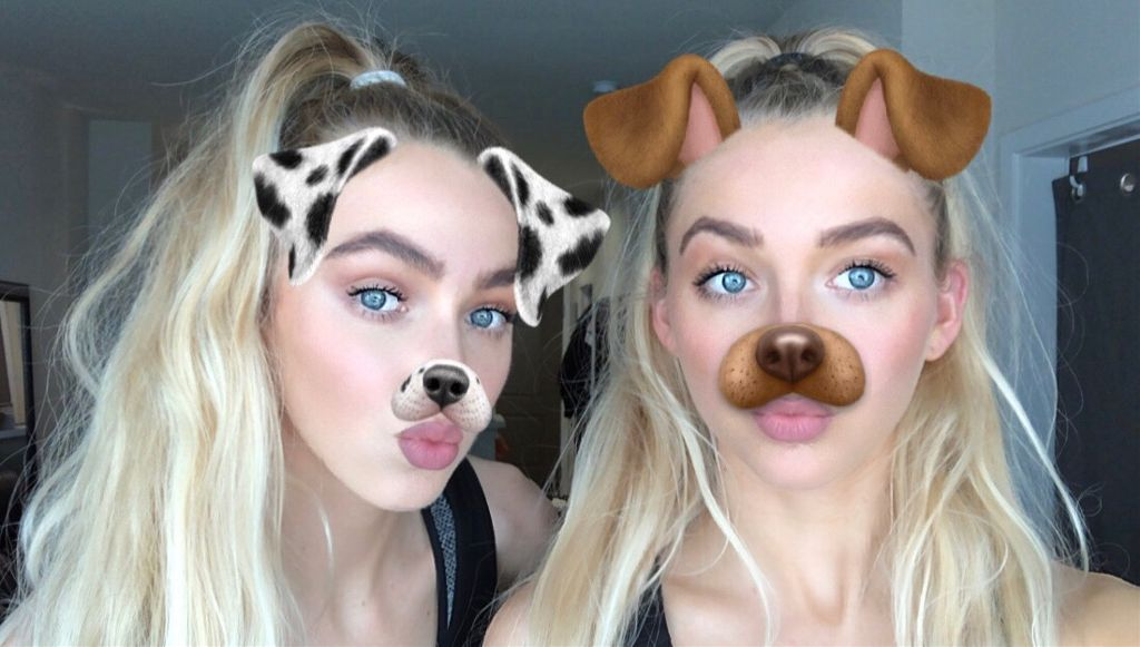 #twins #blonde #snapchat #dogfilter #snap #dog #girls #sisters #twin #california