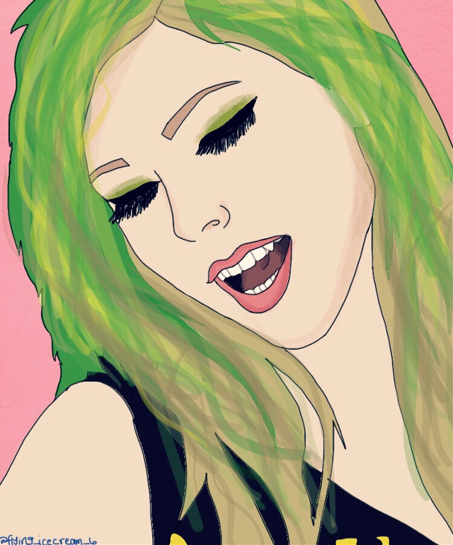 Make sure to vote for my sticker in the cheese competition!!!!! Thank you!!! #avrillavignesmile #musicvideo #music #musician #singer #art #fanart #digitaldrawing #digitalart #drawing #freetoedit