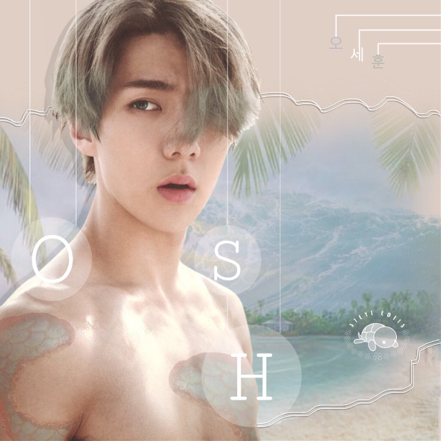 3. |E|  Sehun for the lovely @oldsouls 🌴 Hope you like it!!  Sehun sticker cr : myself Sand sticker cr : @/lily1424 Island sticker cr : @/sona75 Ocean sticker cr : @/pann70 Scales sticker cr : @/thesuperpitts  #kpopedits #kpop #edits #kpopedit #edit #exoedit #exo #exosehun #ohsehun #sehun