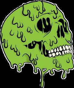 skull zombie toxic urban cool freetoedit