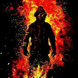fire fireman firefighter hot lit freetoedit
