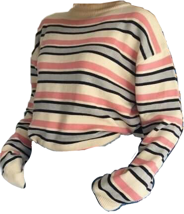 top sweater stripes aesthetic freetoedit