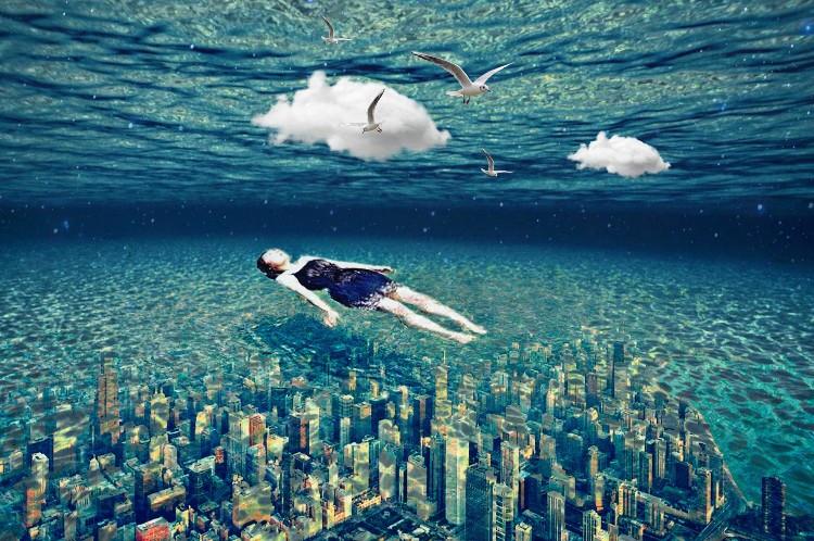 #freetoedit #surreal #underwater #cityscape #sea #surrealism #skyscrapers