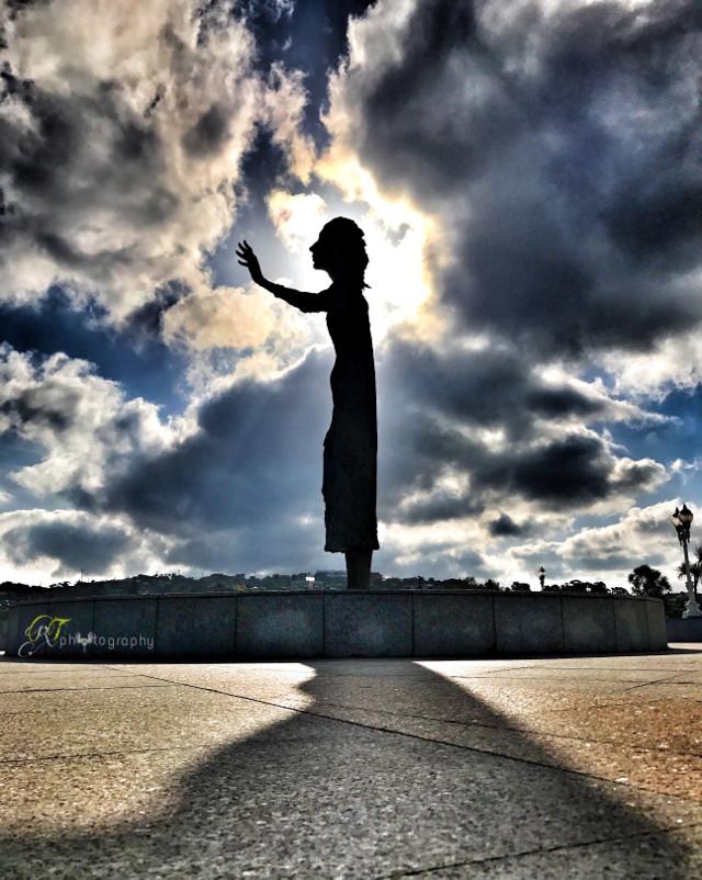 #statue #sky #clouds #freetoedit
