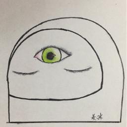astronaut thirdeye eyes helmet katokachan
