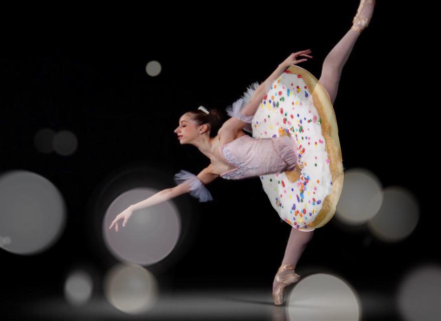 #freetoedit #donut #ballerina #photography