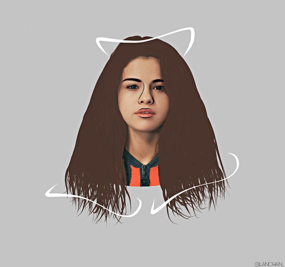 Freetoedit Selena Gomez Girl Draw Girls Outlin