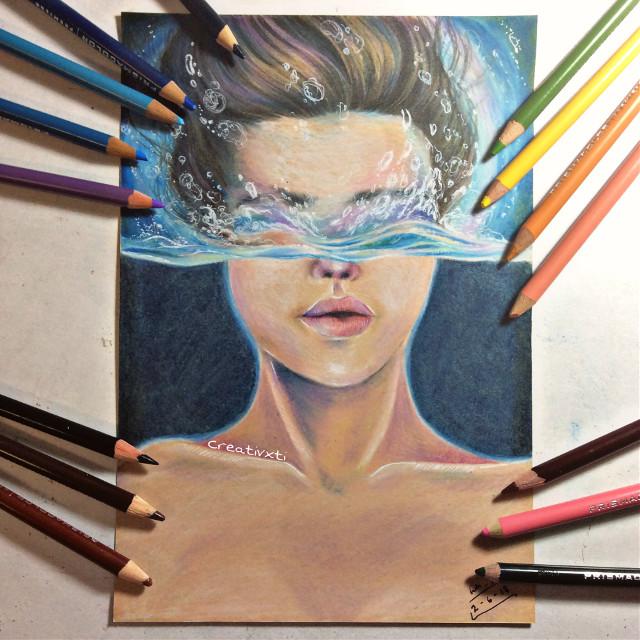 Submerged. Original drawing #art #drawing #water #original #noreference