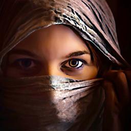 freetoedit woman timeless stillness looking