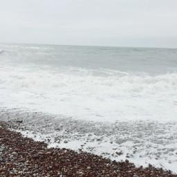 monochrome sea waves rockybeach