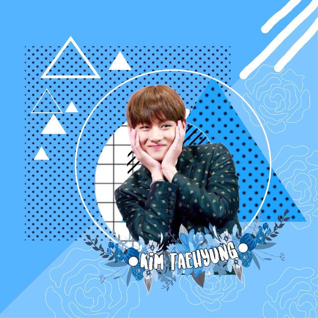 I was bored so i made an edit of BTS Kim Taehyung #bts #kimtaehyung #blue #interesting #freetoedit #kpop