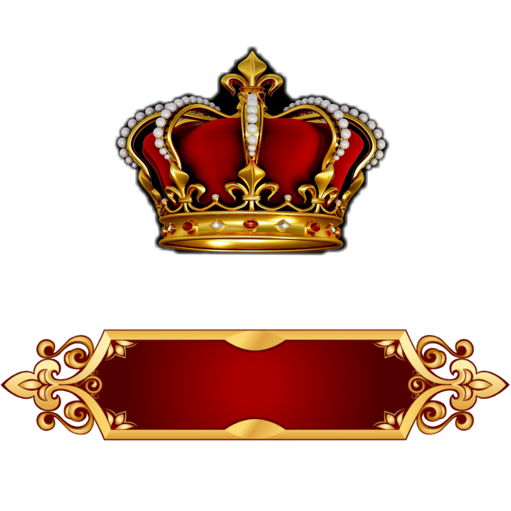crown nameplate banner sticker by tee