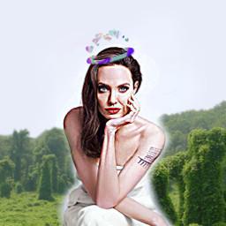 angelinajolie freetoedit tree crown bracelet