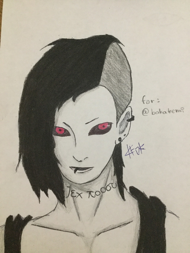 Uta from tokyo ghoul requested  by @bakakemi i hope you like it (if you noted it i change it from the first version i sent to you)    DONT STEAL PLEASE  #katoka #katokachan #katokateam #uta #tokyoghoul #ghoul