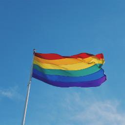 freetoedit flag lgbtq pride sky