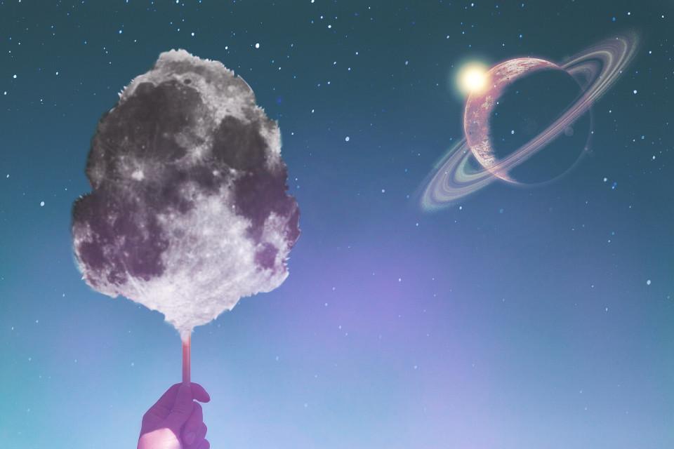 #freetoedit #moon #planets #stars #sparkles #space #sky #night #blue #cottoncandy #madewithpicsart #dramaeffect #art #picsart