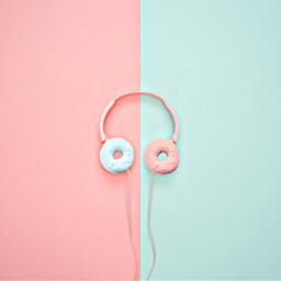 freetoedit headphones music donuts