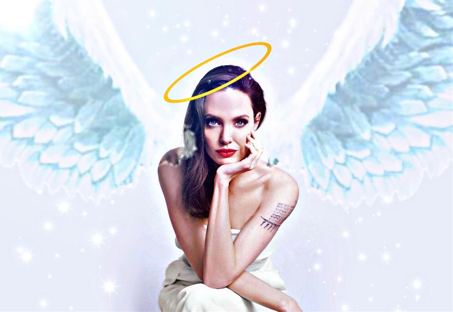 #angelinajolie  #angelwings #freetoedit