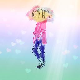 freetoedit rainbowlight mydrawing bokehheartbrush happiness