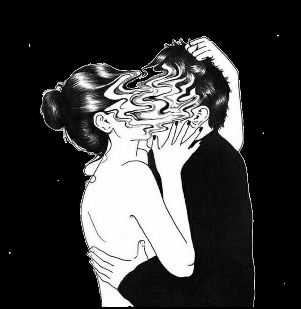 Love Copule Aesthetic Sticker By Mangozjebnekoyaoi