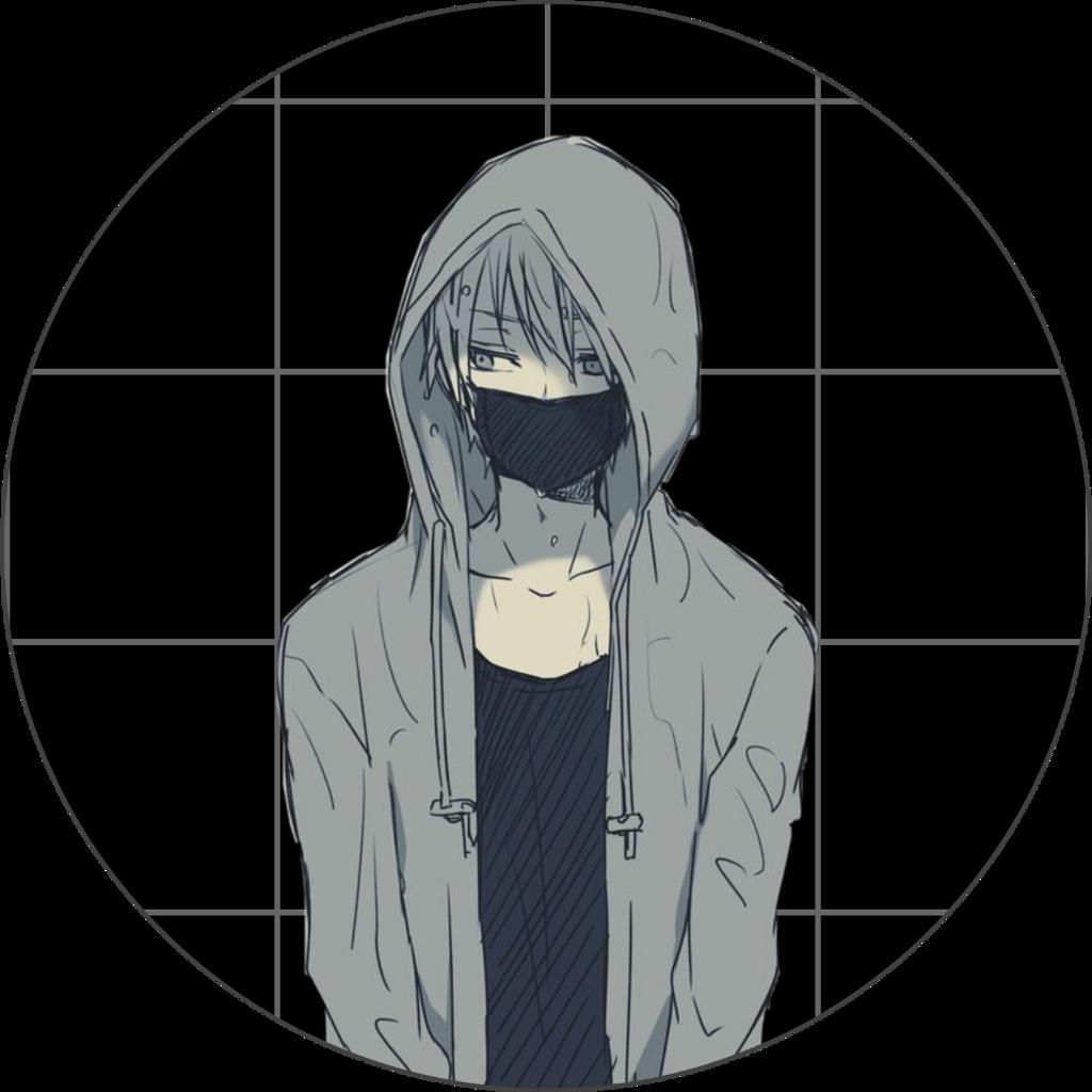 boy depressed dark grid animeboy