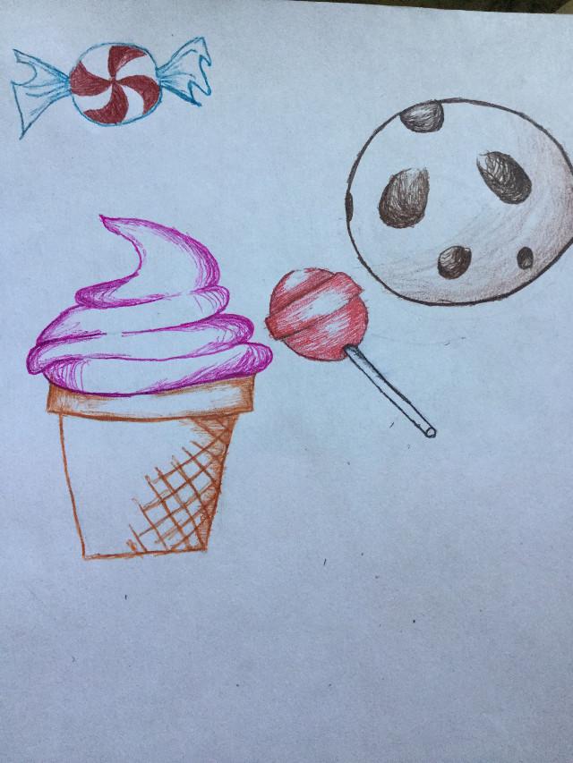 I am tryna be more active  Some candies i did on art class i was bored  Did u listened to SHINee's new song, good evening ? I like it  DONT STEAL THE ART PLEASE    #katoka #katokachan #katokateam #candies #chip #icecream #lollypop #mint #pink #brown #pink #orange #red #blue #sweet #sugar