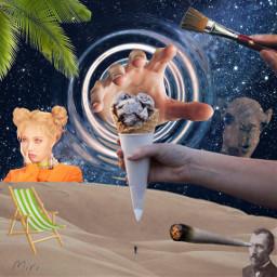 ircicecreamcone icecreamcone icecream space desert freetoedit