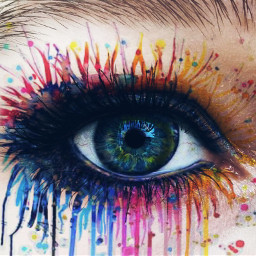 freetoedit raimbow rainboweye eye colourful