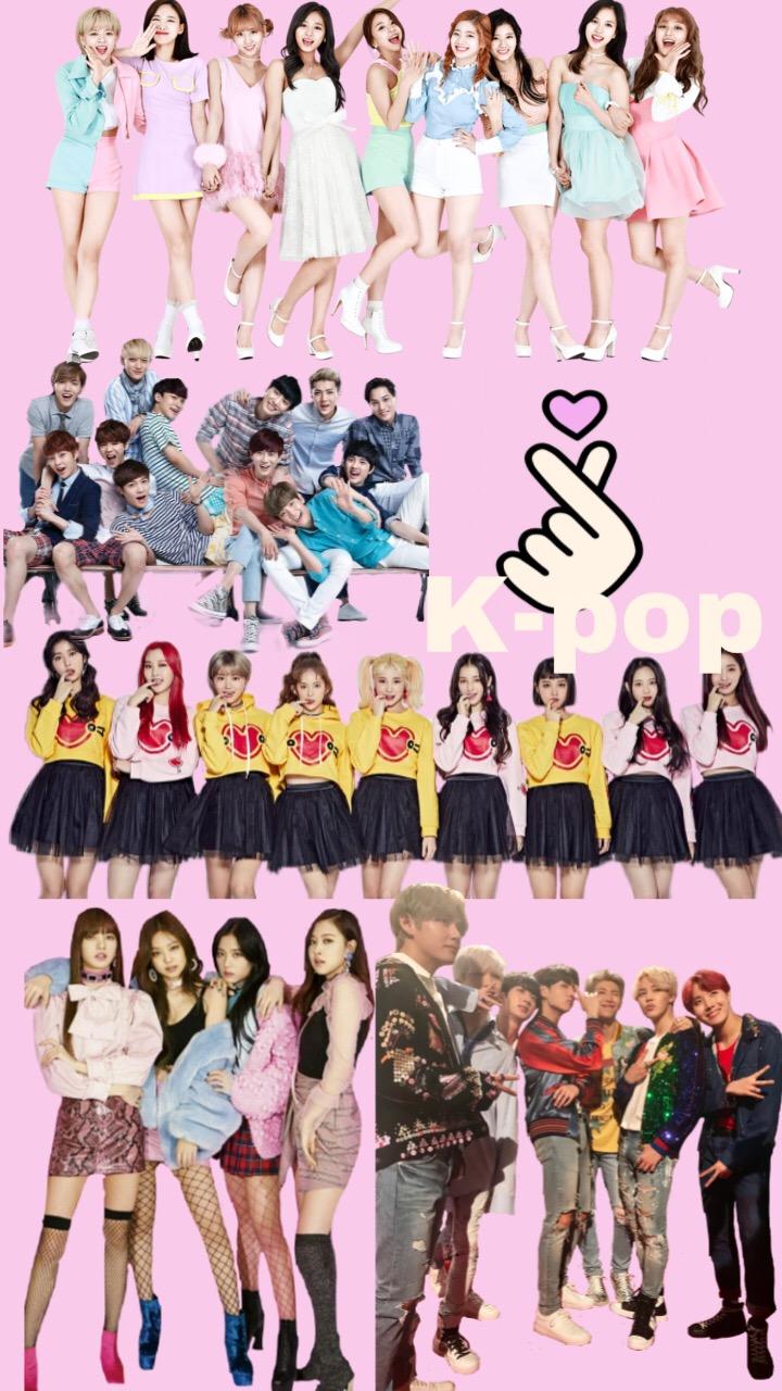 K-pop BTS Exo Blackpink Twice Momoland Wallpaper...