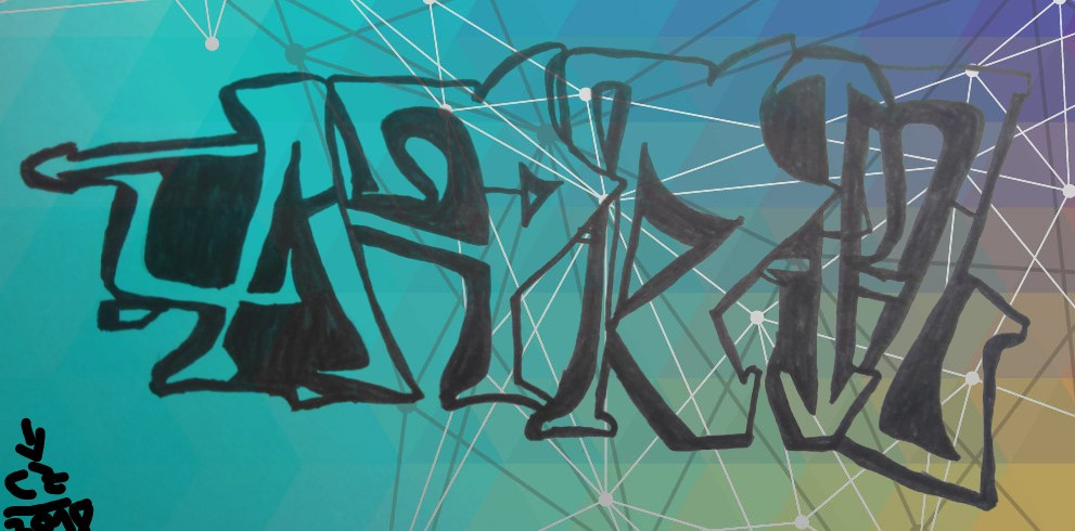 """#freetoedit """"I draw your name"""" #11 Today: @anarchymart - April! This tag is in the """"Degrassi"""" Graffiti Style! #degrassi #cz2018 #april #graffiti #background #handmade #drawing"""
