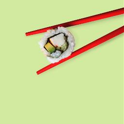 sushi yummy food chopsticks minimal freetoedit
