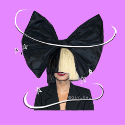 freetoedit sia outline singer bow