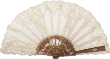 fan vintage white cream ivory